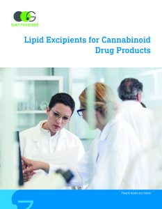 Lipid excipients for cannabinoid drug products