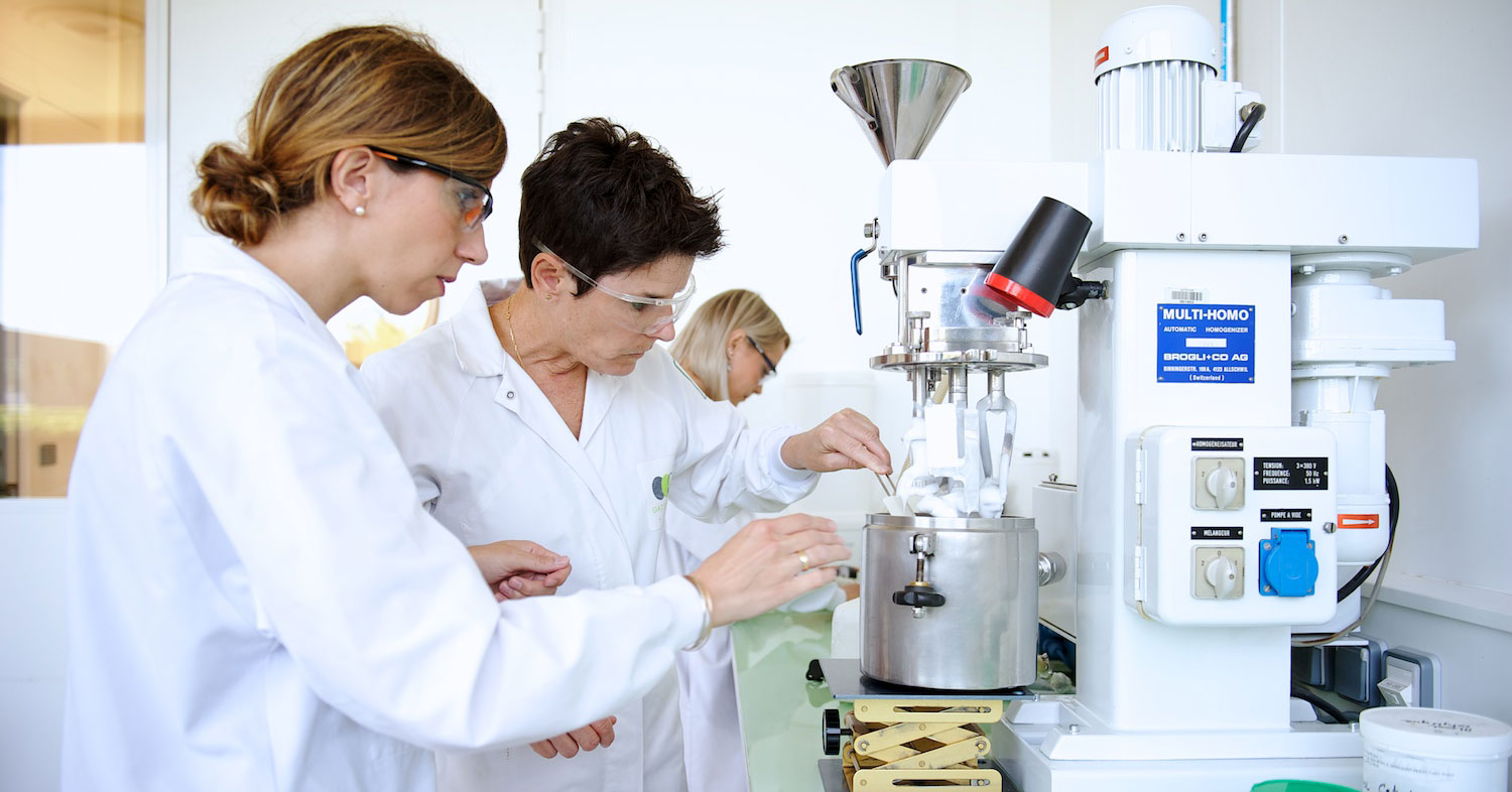 Application laboratory Gattefossé pharmaceuticals