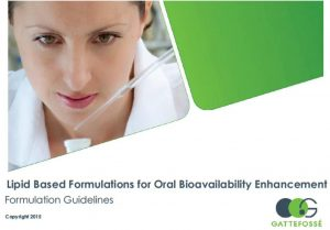 Gattefosse Bioavailability guidelines
