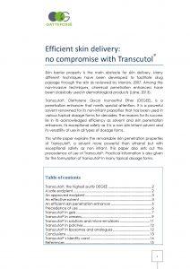 Gattefossé Nov 2015 Efficient skin delivery no compromise with Transcutol®