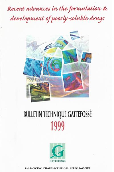 Bulletin Technique Gattefossé Journées Galéniques 1999